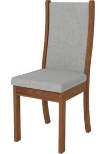 Cadeira Malta 2 Peças - Rústico Terrara Com Linho Claro