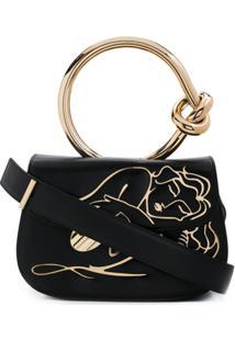 Benedetta Bruzziches Plaque-Embellished Shoulder Bag - Preto