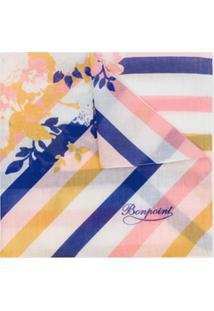 Bonpoint Echarpe Listrada E Floral - Rosa