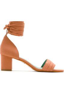 Blue Bird Shoes Sandália Salto Bloco Em Cupro - Neutro