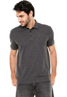Camisa Polo Ellus Bordado Cinza-Escuro