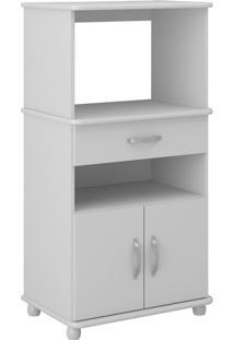 Armário Para Micro-Ondas Metim 2 Pt 1 Gv Branco