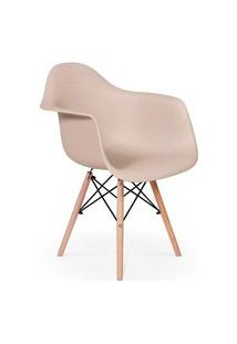 Cadeira Charles Eames Wood Daw Com Braços - Design - Nude