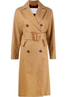 Mackintosh Trench Coat Com Cinto - Marrom