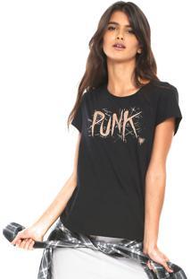 Camiseta Cavalera Punk Preta