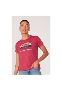 Camiseta Ecko Feminina Estampada Rosa Mescla