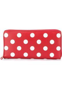 Comme Des Garçons Wallet Carteira De Couro Modelo 'Polka Dots' - Vermelho
