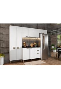 Cozinha Compacta Nevada I 10 Pt 3 Gv Branca