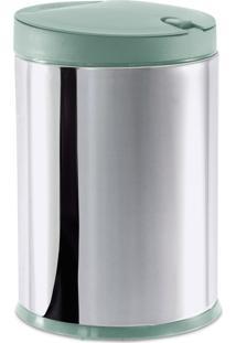 Lixeira Brinox Press Com Tampa Aço Inox 4L Verde