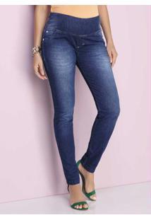 Calça Skinny Jeans Power Azul