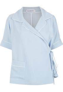 Camisa Olympiah Elie Azul Claro