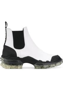 Moncler Leather Ankle Boots - Branco