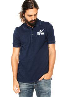 Camisa Polo G-Star Indigo Azul