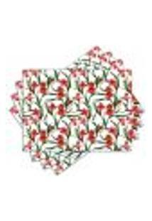 Jogo Americano - Floral Com 4 Peças - 306Jo