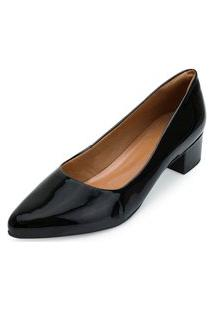 Sapato Scarpin Aquarela Aq21-002 Preto