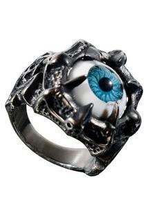 Anel Kodo Acessórios Olho Dragão Prata