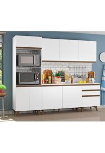 Cozinha Compacta Madesa Reims Com Balcão - 8 Portas 3 Gavetas