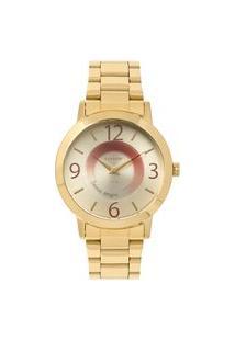 Relógio Condor Feminino Mensagens Analógico Dourado Co2034Aak4D