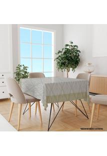 Toalha De Mesa Quadrada Para 4 Lugares Flor Abstrata 1.45M X 1.45M Único