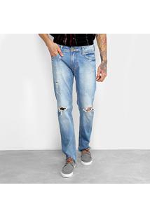 Calça Jeans Slim Colcci Alex Masculina - Masculino-Azul