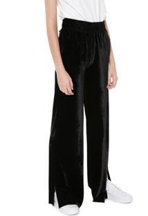 Calça Calvin Klein Jeans Pantalona Veludo Preta