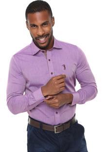 Camisa Aleatory Slim Fit Roxa