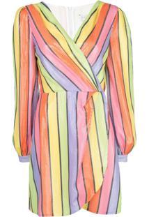 Olivia Rubin Vestido Reto Listrado - Estampado