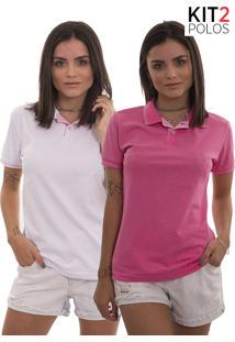 Camisa Pólo Kit Tom Claro feminina  fec1f1a7958c8