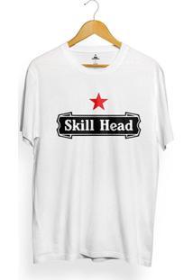 Camiseta Skill Head Drink Star - Masculino-Branco