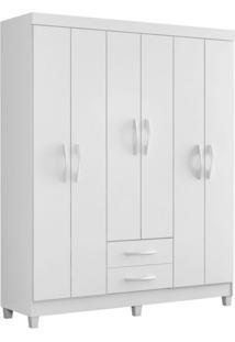 Guarda-Roupa Casal Flex Color Ambar 6 Pt 2 Gv Branco