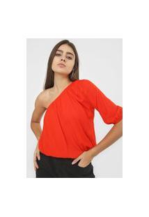 Blusa Cativa Ombro Único Vermelha