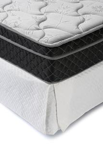 Saia Para Cama Box Casal Corttex Rectangle Matelada Off-White