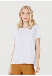 Camiseta Hering Básica Manga Curta Em Algodão Pima Branco - Kanui