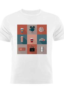 Camiseta Manga Curta Nerderia Movies2 Branco