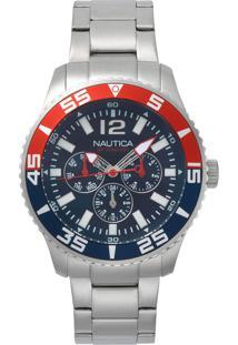 81d993f676b ... Relógio Nautica Masculino Aço - Napwhc002