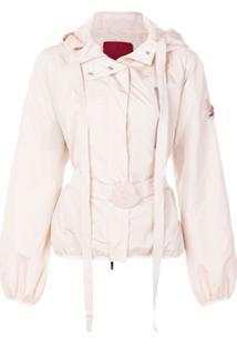 f53b98956 Moncler Jaqueta Com Cinto E Capuz - Rosa