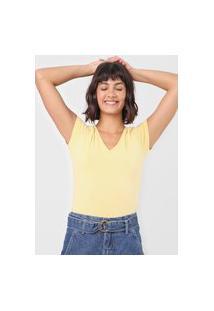 Blusa Malwee Básica Amarela