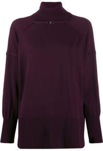Pinko Rollneck Wool Sweater - Vermelho