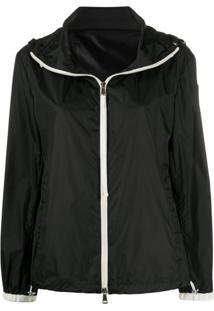 Moncler Zip-Up Hooded Jacket - Preto