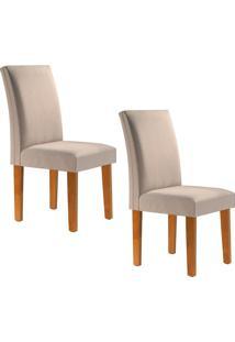 Conjunto Com 2 Cadeiras Classic Ypê E Linho