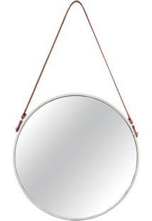 Espelho Arredondado- Espelhado & Off White- 75,5Xã˜45Mart