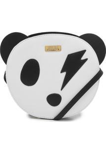 Bolsa Transversal Santa Lolla Panda Branca - Branco - Feminino - Dafiti
