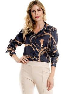Camisa Bisô Selaria Feminino - Feminino-Preto