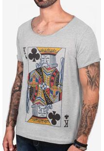 Camiseta Velho K Mescla Escuro Gola Canoa 103405