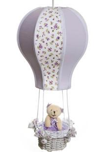 Lustre Balão Cintura Ursa Quarto Bebê Infantil Menina Potinho De Mel Lilás - Kanui