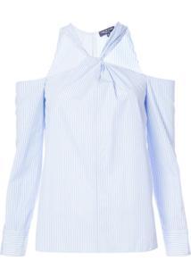 Rag & Bone Blusa Listrada Ombros Vazados - Azul