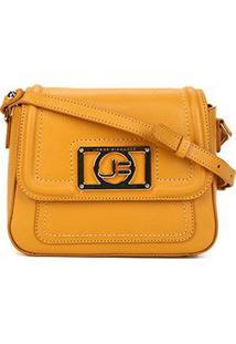 Bolsa Couro Jorge Bischoff Mini Bag Floater Basic Feminina - Feminino-Amarelo