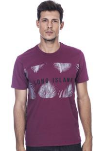 Camiseta Long Island Fr Masculina - Masculino-Vinho