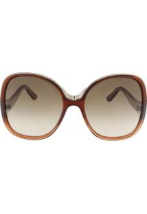 Óculos De Sol Chloé Ce714S 227/59 Vinho Degradê - Tricae