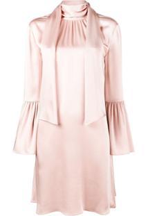 Fendi Vestido Com Echarpe - Rosa